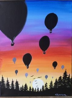 Sunset Painting - Learn To Paint An Easy Sunset With Acrylics Sunset Painting -. - uncategorized - Sunset Painting – Learn To Paint An Easy Sunset With Acrylics Sunset Painting – Learn To Paint - Canvas Painting Tutorials, Simple Canvas Paintings, Small Canvas Art, Easy Canvas Painting, Flag Painting, Diy Painting, Acrylic Painting Trees, Balloon Painting, Acrylic Canvas