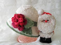 Hand Knitted Baby Hat Brimmed Baby Hat  Cotton por CottonPickings, $26.00