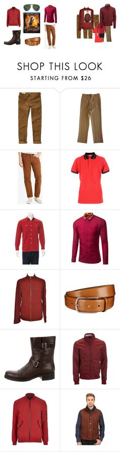 """""""Gaston May be a Jerk but He Dresses Well"""" by troy-craig ❤ liked on Polyvore featuring Disney, Hollister Co., Levi's, Christian Dior, RRL, Yohji Yamamoto, BOSS Hugo Boss, Prada, Aéropostale and River Island"""