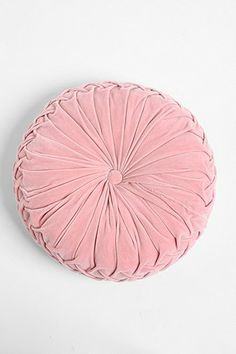 Round Velvet Pintuck Pillow