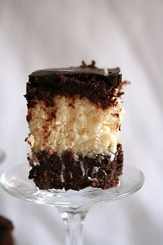 Chocolate & Coconut Slice