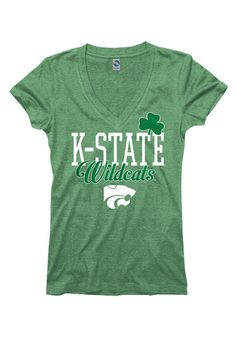 K-State Wildcats St. Patrick's Day Womens Green Tee http://www.rallyhouse.com/shop/kstate-wildcats-tshirt-irish-green-wildcats-glitter-rock-short-sleeve-vneck-22780593?utm_source=pinterest&utm_medium=social&utm_campaign=Pinterest-KSUWildcats $21.99