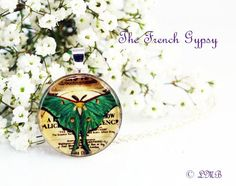 Luna Moth Pendant Necklace  Nature by DesignsbyLeahBest on Etsy, $12.00