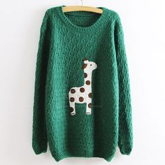 This cozy AF sweater. | 27 Adorable Giraffe Products You Need In Your Life
