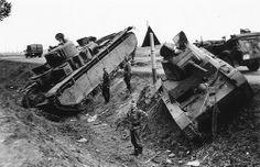 Abandoned T-35 & T-26