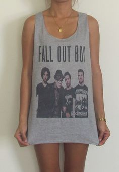 Fall Out Boy Vest Tank Top Singlet T-Shirt Paramore My Chemical Romance Panic At… Band Merch, Band Shirts, Band Outfits, Cool Outfits, Panic! At The Disco, Fall Out Boy, Tank Tops, My Style, Paramore