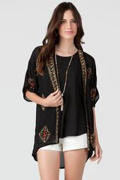 Absolutely ADORE this Quinn Beaded Kimono from francescas. Go online now to buy for just $48.00 at http://www.francescas.com/product/quinn+beaded+kimono.do?sortby=ourPicks Comment if you LOVE this Kimono!