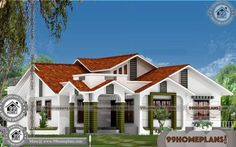One Story House Blueprints with Traditional Indian House Designs Having 3 Total Bedroom, 3 Total Bathroom, and Ground Floor Area is 2249 sq ft, Hence Total Area is 2249 sq ft Simple House Plans, Beautiful House Plans, New House Plans, Double Storey House Plans, Double Story House, New Model House, Model House Plan, Indian Home Design, Kerala House Design