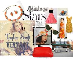 """Singer Taylor Swift Sets Vintage Trends for 2013"" by thejewelseeker-1 ❤ liked on Polyvore"
