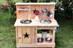 Mud kitchen - toy with room for creativity - Recycled Garden Ideas