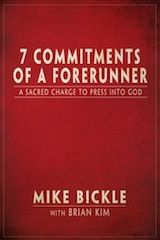 Seven Commitments Of A Forerunner, by Mike Bickle, founder of Intl. House Of Prayer KC. The sacred charge is a prophetic call to refuse to settle for anything less than radical pursuit of God and His purposes for this generation.
