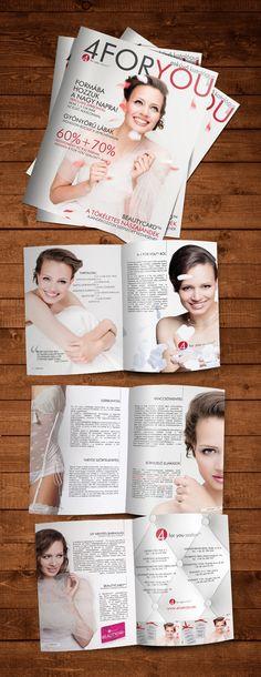 Beauty Salon Catalog Magazine Wedding Layout