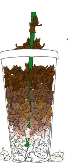 Iced Caramel Macchiato more like mocchiCATo. Nope nevermind. Cat coffee pun retracted.