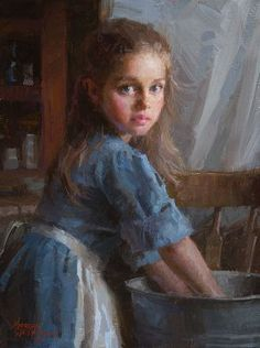 Lot: Morgan Weistling - Laundry Girl, Lot Number: 0701W, Starting Bid: $170, Auctioneer: Artistic Findings, Auction: Important  Art, Jewelry, Art, Sculpture, Date: March 10th, 2015 GMT