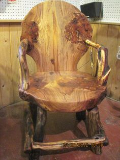 Hand Made Burl Wood Chair From It's A Burl by Itsaburl on Etsy, $1500.00