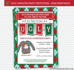415883c080a1127f2d6be30e26a9c447 christmas christmas gifts ugly sweater party,Free Printable Ugly Christmas Sweater Party Invitations