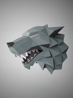 "DIY PAPER SCULPTURES Exclusive - The Game of Thrones ""Stark"" Template"