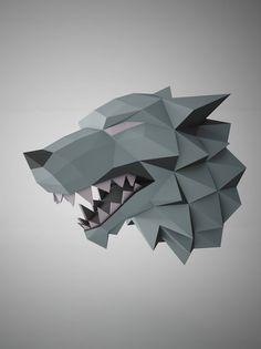 """Exclusivo de esculturas de papel DIY - juego de tronos """"Stark"""" plantilla"""