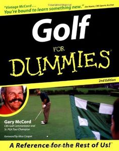 Golf For Dummies (For Dummies (Computer/Tech)) Paperback April 29, 1999 >>> Be sure to check out this awesome product.