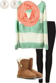 i like the mint and coral together,it gives the outfit a bit of contrast