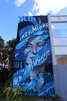 """We continue our ongoing coverage of POW! WOW! Hawaii 2016 with Tristan Eaton which just finished working on his artwork in Honolulu. Entitled """"Aloha Dreamland"""", the new painting feature Eaton's characteristic patchwork style with this subject matter quite localthis time around. Thepiece is inspired the the romantic effect Hawaii has on people. It's a vortex"""