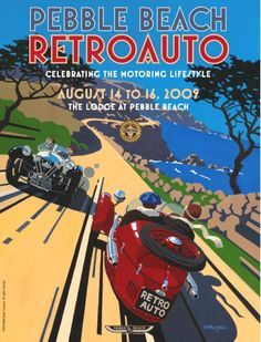 Pebble Beach - Retro Auto '09 Poster