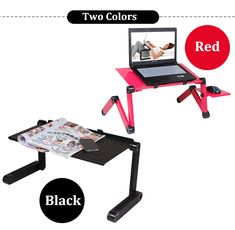 Media Mark, unser Maskottchen, empfiehlt Adjustable Portable Laptop Table Stand for Notebooks with Mouse Board von fancyshop.ch