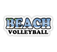 Beach Volleyball Sticker From redbubble.com