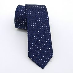 """Dark blue and white, blue, brown dotted men's tie 6 cm (2,36"""") DK-337. Dark blue and white, blue, brown dotted men's necktie DK-337 Width : 6 cm (2,36"""") Length : 150 cm (59,06"""") The tie is made of high quality microfiber fabric. The wadding inside, is stick with high temperature and vacuum which results the tie a non-swelling product. All sewing and design is handmade. You will complete your style with this tie. In order to present you full details, the picture is taken at high…"""
