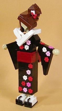 Lego Japanese Doll.