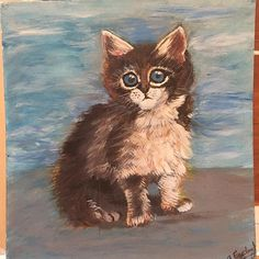 My first acrylic painting, Acrylic on board #oilpainting #animalportrait #catportrait #catpainting #acrylicpainting#firstacrylicpainting #catsofinstagram #cat #animalpainting#instagram #picoftheday #love