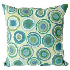 Handmade indoor/outdoor pillow with a dot motif.    Product: Pillow  Construction Material: Polyester microfiber and polyesterColor: Spa     Features: Handmade     Cleaning and Care: Removable cover can be hand-washed