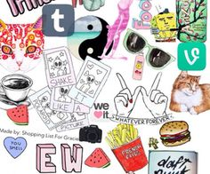 teenage collage - Google Search Hipster Wallpaper Tumblr, Hipster Doodles, View Wallpaper, Iphone 5 Wallpaper, Pattern Wallpaper, Cool Tumblr, Tumblr Art, Shopping Pictures