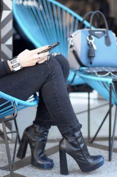 [ Lizzie Lo ]: DONT CALL ME http://www.lizzie-lo.com/2016/03/dont-call-me.html [Vintage sunglasses  +  Zara top and jeans  +  Alexander Wang Addison boots  +  Saint Laurent cuff  +  Fendi Qutweets wristlet  +  Loewe nodo  +  Givenchy Antigona bag]