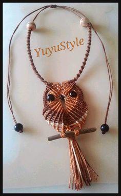 Yuyu Style _ Macramé y más: Collares de búho en macramé