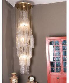 Lámpara Cascada De Techo Mazzega Chandelier, Ceiling Lights, Lighting, Home Decor, Glass Ceiling, Murano Glass, Ceiling Light Fixtures, Antique Chandelier, Cheap Furniture