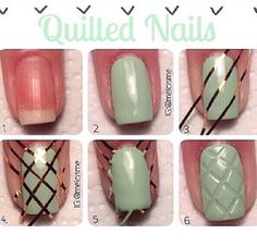 How to do quilted nails... so cool!