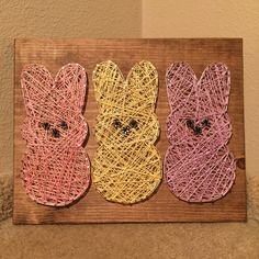 MADE TO ORDER Peeps String Art by StringsbySamantha on Etsy