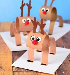 Easy 3D paper strip reindeer craft for kids // Egyszerű térbeli papír rénszarvas - kreatív ötlet gyerekeknek // Mindy - craft tutorial collection // #crafts #DIY #craftTutorial #tutorial #ChristmasCrafts #Christmas #Karácsony