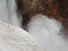 geographilic:  Mist of Lower Falls, Yellowstone National Park, Wyoming