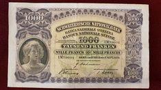 1000 Francs SWITZERLAND 1939 Money Clip, Switzerland, Antiques, Cover, Books, Antiquities, Livros, Libros, Antique