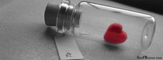 Facebook Timeline Covers | Heart in Bottle Facebook Timeline Cover. | Best FB Cover