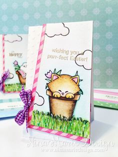 Seed Packet Easter Cards by Nina-Marie Designs | Stamps by Newton's Nook Designs