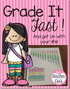 FREE- Grade it fast page- Plus lots of grading tips that are so easy you will think why didn't I think of that!!!  Freebie from Teacher to the Core