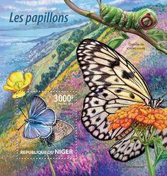 Post stamp Niger NIG 15224 bButterflies (Plebeius amandus)