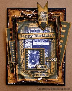 Card by Belinda Spencer using Darkroom Door Photographie Collage Stamp and Photography Rubber Stamp Set.