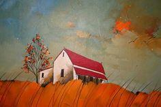 Glendine, South Africa Artist Landscape Paintings, Abstract Paintings, Barn Art, South African Artists, Illustration Art, Art Illustrations, Naive Art, Whimsical Art, Art Day