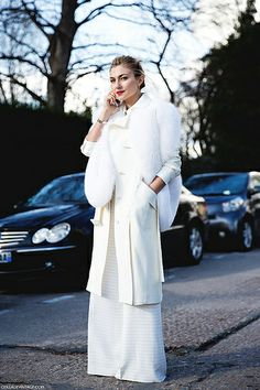2e6edee60a8 One of the most stylish women in 2014 (according to Harper s Bazaar )  Nasiba Adilova is seen at all major fashion events