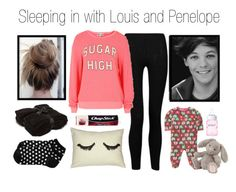 """""""Sleeping in with Louis and Penelope"""" by cheerleader1993 ❤ liked on Polyvore featuring Influence, Wildfox, Carter's, Jellycat, Philips, Old Navy, Chapstick and Barefoot Dreams"""
