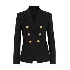 高品質新しいファッション2016滑走路スタイルの女性の金ボタンダブルブレストブレザー上着プラスサイズs-xxl
